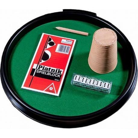 Piatnik Kości Pokerowe z Tacką Kubkiem i Bloczkiem do zapisu