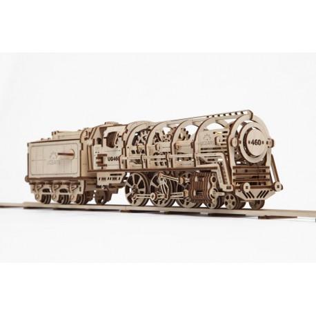 Puzzle 3D Lokomotywa UGEARS model do składania