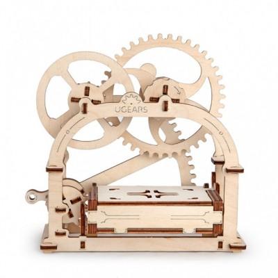 Puzzle 3D Mechaniczna Szkatułka UGEARS model do składania