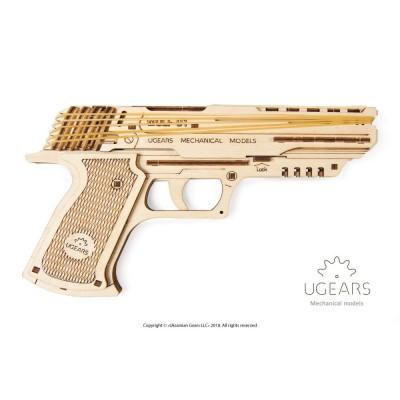 Puzzle 3D Pistolet Wolf-01 UGEARS model do składania