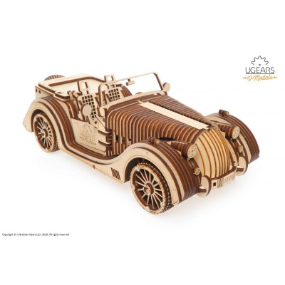 Puzzle 3D Auto Roadster VM-01 UGEARS model do składania