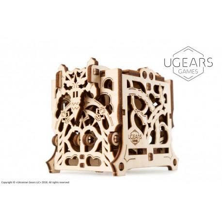 Pudełko na kostki Ugears model 3D do składania