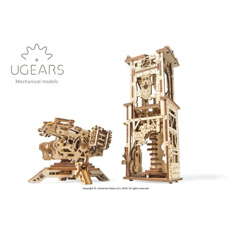 Wieża - Arkbalista Ugears model 3D do składania