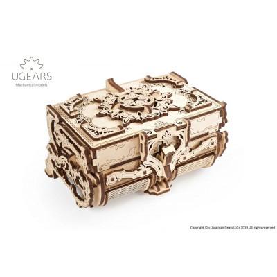 Antyczna szkatułka Model mechaniczny do składania