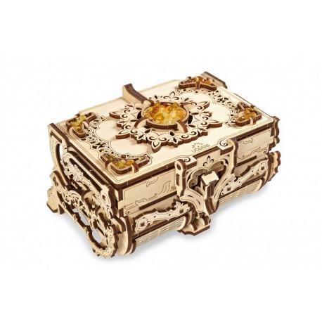Bursztynowa szkatułka UGears Model mechaniczny składania