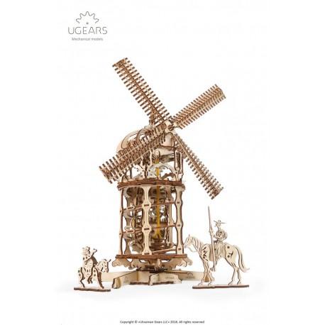 Wieża-Młyn Wiatrowy Model mechaniczny do składania