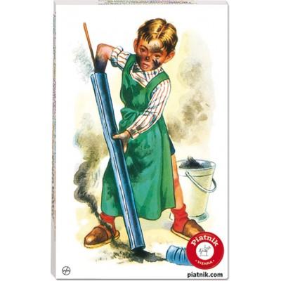 Czarny Piotruś z obrazkami dzieci Piatnik