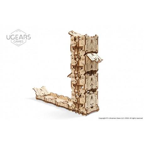 Modułowy Dice Tower 3D model mechaniczny do składania Ugears