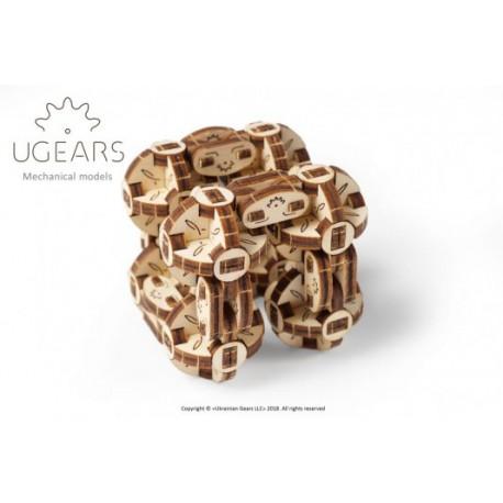 Sześcian sferyczny model mechaniczny do składania Ugears