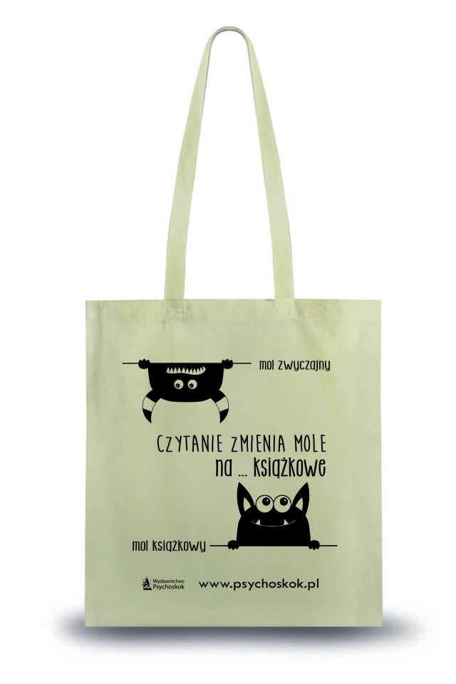 Bawełniana torba na książki Mole książkowe tania