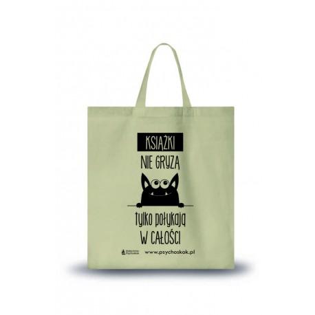 """Bawełniana torba na książki """"Książki nie gryzą"""""""